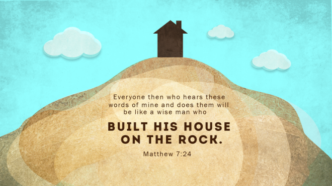 a building that houses the word of god God's plumb-line thus he showed me: and this plumb-line that amos saw is the word of god however  god is building a spiritual building.